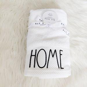 """Rae Dunn """"HOME"""" Hand Towels x 2 NWT"""